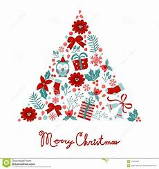 colorful merry christmas tree shape with holiday stock vector image 61050482