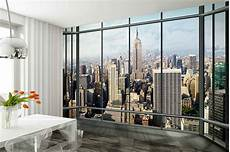 new york city mural wallpaper wall mural new york city skyline quot penthouse quot photo