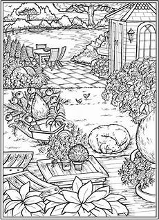 6 country garden coloring pages sting