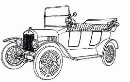 Fresh And Airy Antique Car Design Coloring Pages