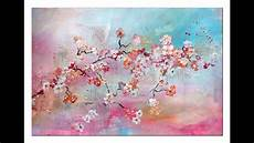 Tutorial Kirschbl 252 Ten Malen Anf 228 Nger Cherry Blossoms