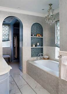 Arched Tiled Niche Tub Contemporary Bathroom