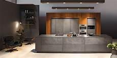 Kuche Anthrazit Matt Holz - kh kitchen concrete look anthracite walnut veneered