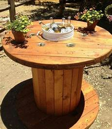 table basse bobine bois 1001 id 233 es que faire avec un touret des inspirations