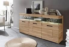 massiv möbel günstig ramon sideboard 3 t 252 ren eiche geb 252 rstet glas massivholz