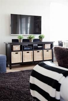 ikea hemnes sofa table as a media stand living room