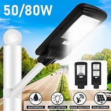 waterproof 50 80w solar street led light motion sensor