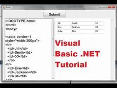 visual basic net tutorial 31 how to make a simple html editor in vb net youtube