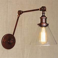 retro swing arm wall l glass shade vintage wall sconces wall bedside reading light arm
