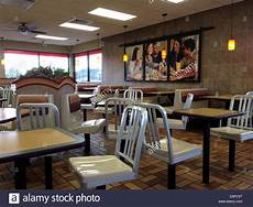 an empty fast food restaurant stock photo royalty free