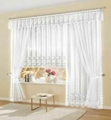 gardinen deko goldfaser fertiggardine vorhang store weiss lang gardinen