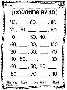 skip counting by 10 s worksheet for kindergarten 12022 grade math unit 11 comparing numbers skip counting and number order grade math