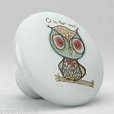 Kitchen Cabinet Hardware Whimsical by Owl Whimsical Pattern Ceramic Knobs Kitchen Drawer