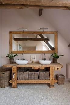 badezimmer holz waschtisch holz badezimmer waschbecken flusssteine badezimmer