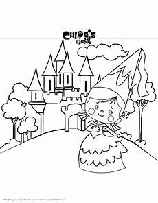 Ausmalbild Prinzessin Schloss Princess And Castle Coloring Pages Hellokids