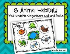 animals habits worksheets 13897 animals habitats web graphic organizers cut and paste