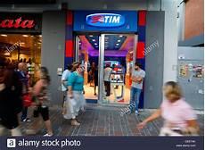 tim mobile italy telecom italia mobile tim store in pescara italy stock