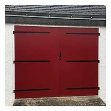 Porte De Garage 2 Vantaux Alu Panneau Sandwich V 233 Nus