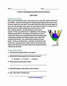 reading worksheets second grade reading worksheets regarding reading comprehension worksheets