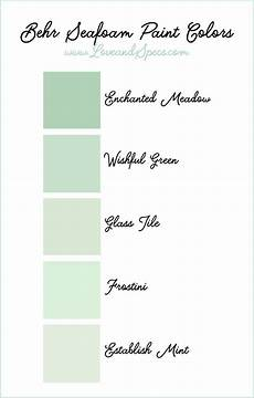 the best seafoam paint colors in a range of mint green and