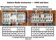 1995 subaru legacy stereo wiring diagram subaru radio wiring diagrams from 1993 2009 pinout cable and connector diagrams usb serial