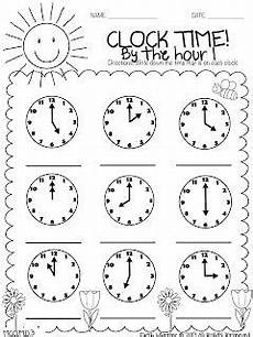 time on the hour worksheets for kindergarten 3611 back with printables time worksheets math school math lessons
