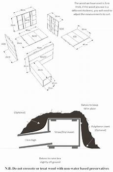 hedgehog house plans hedgehog homes the british hedgehog preservation society