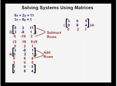 solve the system of equations
