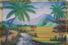 Gambar Saran Pemula Lukisan Pemandangan Alam Hijaukan