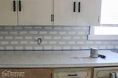 Cheap Kitchen Tile Backsplash Diy Cheap Subway Tile Backsplash Hometalk