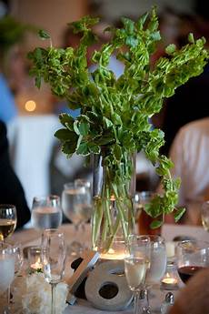 bells of ireland centerpiece wedding clients kalyn