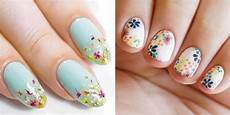 nails muster 25 flower nail design ideas easy floral manicures