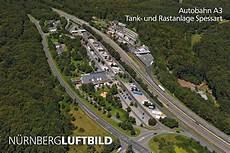 Autobahn A3 Baustellen - funk und fernmeldeturm n 252 rnberg luftaufnahme