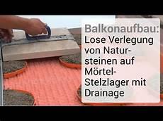 Balkonaufbau Lose Verlegung Natursteinen Auf M 246 Rtel