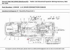 part number 134430 l h door connection cables