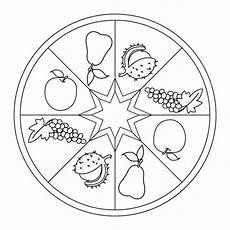 Ausmalbilder Apfel Mandala Mandala Herbstfr 252 Chte Mit Bildern Bastel Herbst