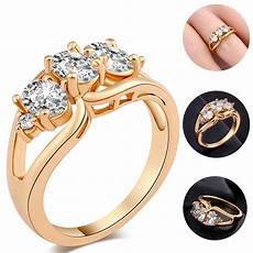 loverly cute diamond ring women s and girl s gold rings party weddings ring ebay
