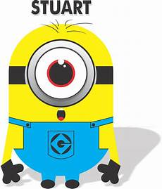 Clipart Black And White Minion Stuart Iseng