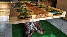 table coffee wood and epoxy resin resin furniture solid