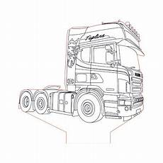 Ausmalbilder Lkw Daf Scania Truck 2 3d Illusion L Plan Vector File