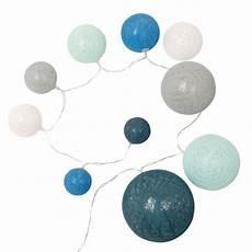 Guirlande Lumineuse 10 Led Boules Bleues Maisons Du Monde