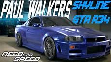 Need For Speed 2015 Paul Walker S Nissan Skyline Gt R