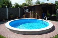 Pool Ohne Bodenplatte - pool teilversenkt ohne bodenplatte