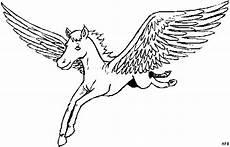 Malvorlage Fliegendes Pferd Gefluegeltes Pferd Fliegt Ausmalbild Malvorlage Phantasie