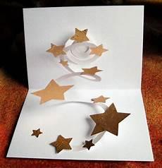 3d bilder basteln handgefertigte pop up karte sternenhimmel diese