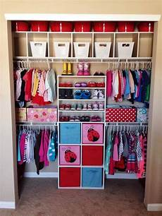 Bedroom Closet Closet Organization Ideas by Closet For Two Small Children Kid Things In