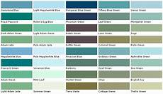 green paint color swatches