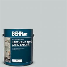 behr 1 gal 720e 2 light gray urethane alkyd satin enamel interior exterior paint 790001