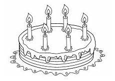 Malvorlage Geburtstag Kinder Geburtstag Kuchen 6 Kerzen Geburtstag Kuchen