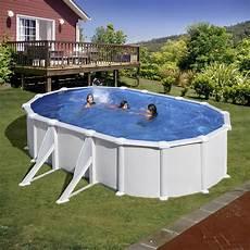 produit piscine hors sol piscine hors sol acier san clara l 6 4 x l 4 05 x h 1 32